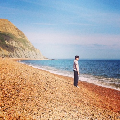 The boy on the beach (at Seatown Beach)