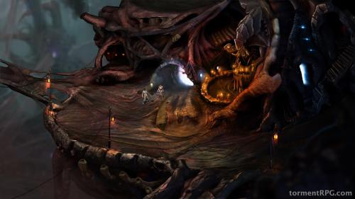 The new Torment:Tides of Numenera screenshot with characters from Planescape added in.  (I've been playing the original this month.  It really holds up.)