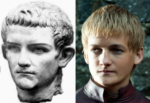 diaphanee:  Caligula & Joffrey  I don't know if people understand just how much Joffrey is like Caligula. It's more then just looks.