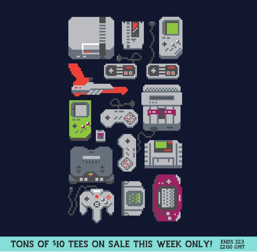 A Pixel of My Childhood by Adam Jhesu Rufino Nakamura REPRINTED and US $10 from Threadless