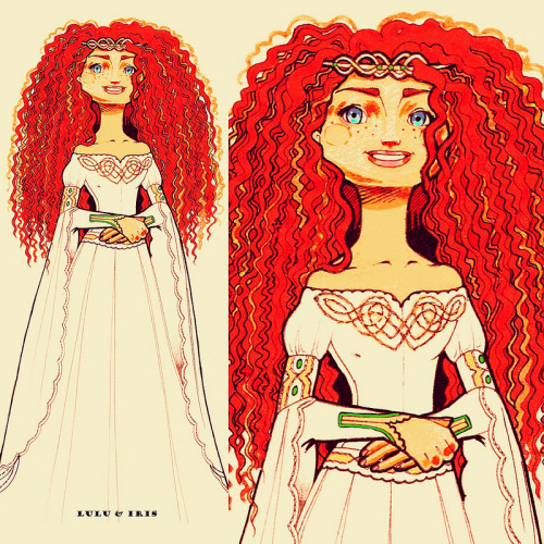 awastrelmescalined:   Disney Princess Wedding Dress Collection: Merida by Lulu and Iris on Flickr.  #is it just me or does she look like she's thirty seconds from ripping it off