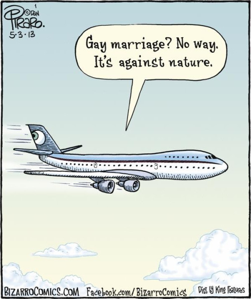 Gay marriage? No way! It's against nature.