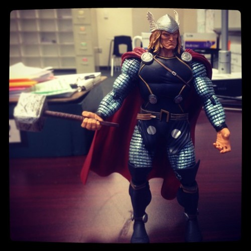 New desk friend. #Thor #Marvel