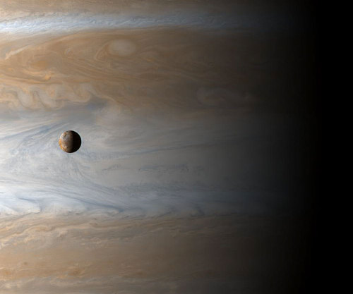 Jupiter and it's moon Io.