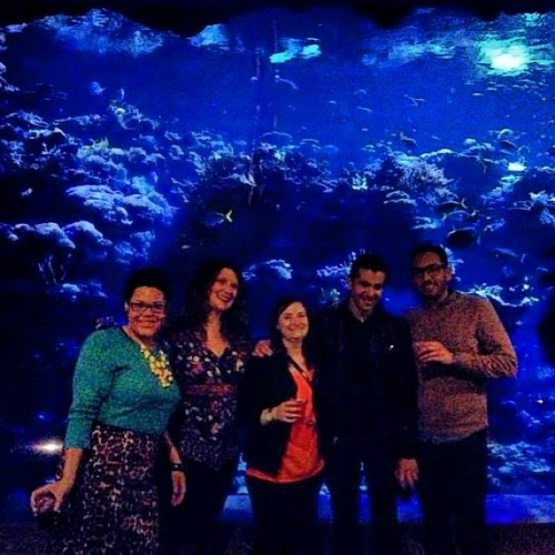 candylands:  Friends and Fish. #happybirthdayjason #nightlife @jasonjtapia @somecallmejordy @djadeluca @classicmegz (at California Academy of Sciences)  Great birthday!