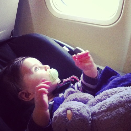 Emerson Lily, globetrotter. (at Portland International Airport (PDX))