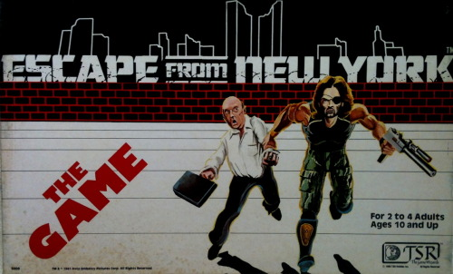 Escape From New York - The Board Game (TSR) How did I not know this existed?