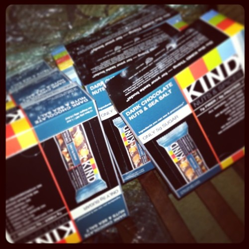 Thank you @KINDSnacks for the delicious treats! I'm set for marathon training! #KindAwesome