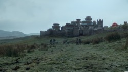 Winterfell  Winterfell is the ancestral castle and seat of power of House Stark and is considered to be the capital of the North. It is located in the center of the northern province of the Seven Kingdoms, on the Kingsroad that runs from King's Landing to the Wall.It was supposedly built by Brandon the Builder over eight thousand years ago, with the help of giants. For most of recorded history Winterfell was the seat of House Stark, the Kings in the North and later as Wardens of The North, after King Torrhen Stark bent the knee to Aegon the Conqueror and his dragons.Winterfell is a huge castle complex spanning several acres, consisting of two massive walls and a village located just outside called Winter Town. Winterfell itself has been built around an ancient godswood and over natural hot springs. The water is piped through walls and chambers to heat them, making Winterfell more comfortable than other castles during the harsh northern winter. Inside the walls, the complex is composed of dozens of courtyards and small open spaces. Weapons training and practice take place in those yards. The inner ward is a second, much older open space in the castle where archery practice takes place. It is located next to the broken tower. Inside Winterfell stands the Inner Castle, which contains the Great Keep and the Great Hall (x).