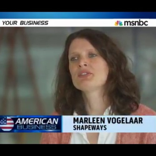 Shapeways 3d printing and new business models with Marleen on MSNBC