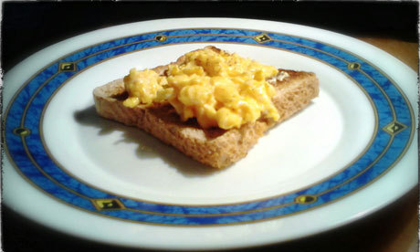 'A blurry picture of scrambled eggs on toast … I can almost hear Rudolf Clausius turning in his grave.' Not sure how popular a question this'll be on tumblr, but: is it ok to photograph your food? Photograph: Trevor Baker