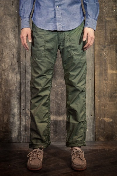 finefinds:  Engineered Garments  Fatigued Pants Olive Reversed High Count Sateen Link