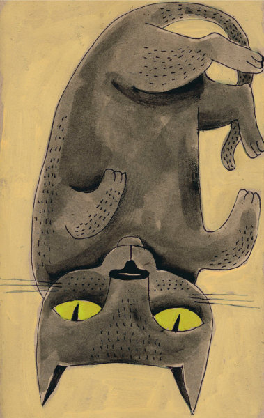 "$35My Cat Mei, Upside DownMary Anne Lloydarchival print, signed8.5"" x 11"" make it mine"