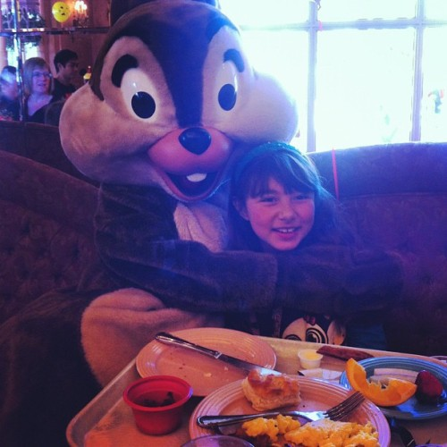 We had #breakfast with a #chipmunk #chip #disney #disneyland