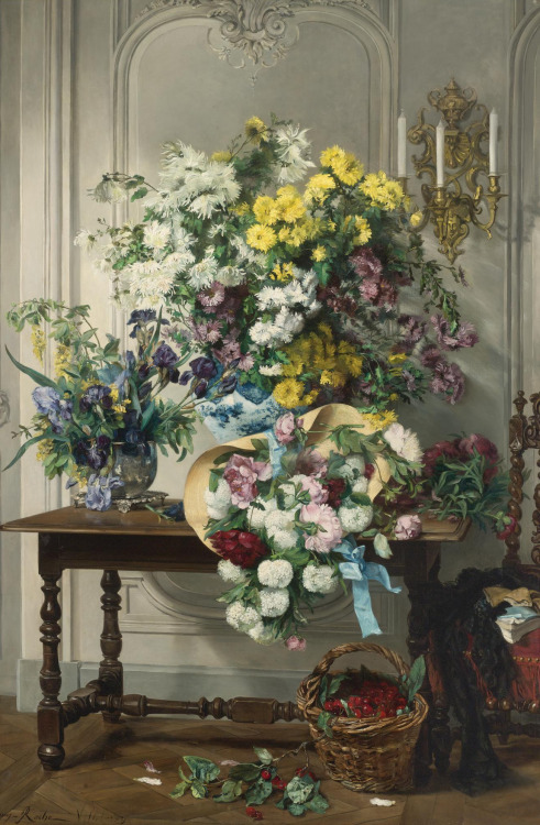 monsieurleprince:  Jenny Villebesseyx (1854 - ?) - Still life with flowers