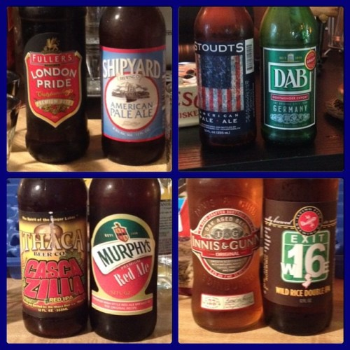 The match ups! America vs. Europe in honor of the Ryder Cup! America won 11-5 with four tasters. USA! USA! USA! 🇺🇸🇺🇸🇺🇸