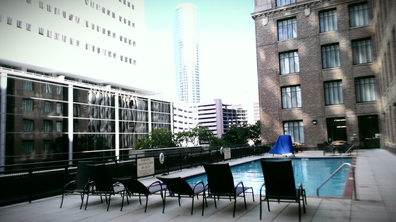 Woke up early to be the only ones in the Jacuzzi on the roof.
