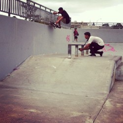 @cakeeye was getting nuts the other day (at Keolu Skatepark)