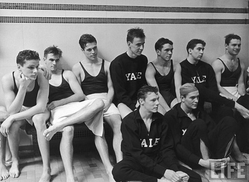 vintage Yale swimmers. these Eli Bulldog bros will really get your wet, in or out of the pool…     'topher ;)  BestOfBromance.tumblr.com - @BestOfBromance - BestOfBromance@gmail.com