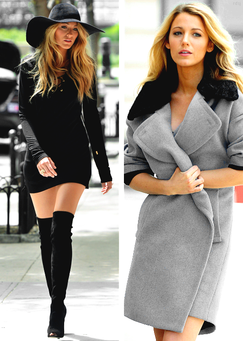 Blake Lively on set of a photo shoot in NYC, May 7th 2013