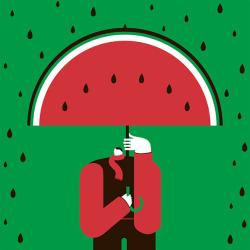 Watermelon man, visual poetry by Magoz