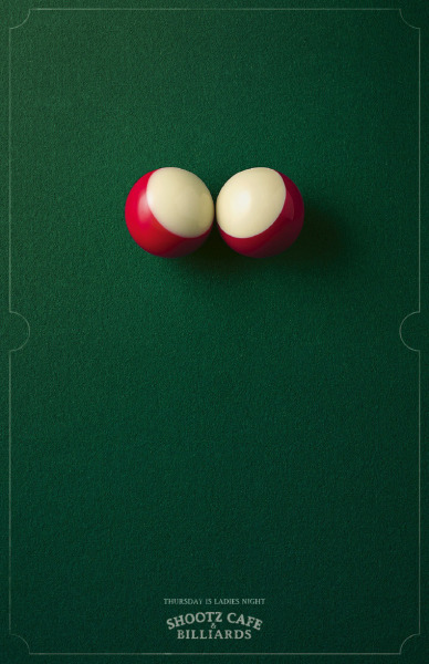 Ladies Night, Shootz Café & Billiards Ad by Blattner Brunner