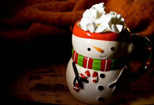 Yum, hot cocoa.