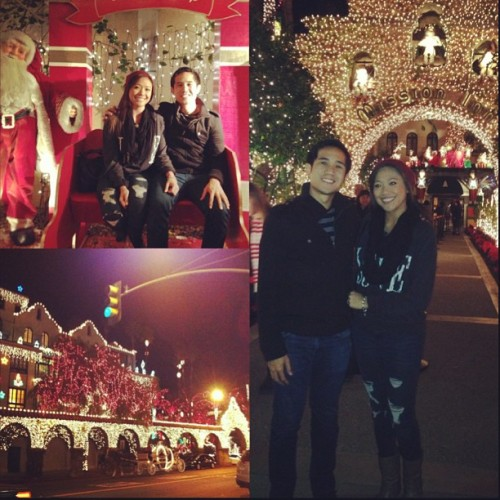 #latepost Festival of Lights w/ mah boo thang! 😛😍✨ #missioninn #festivaloflights #kettlecorn #iceskating #datenight