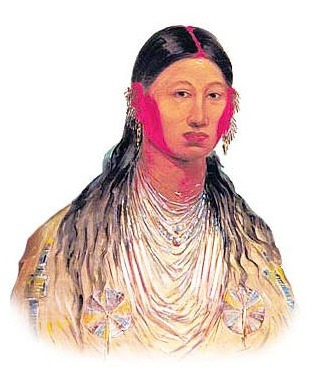 Picture of an Iowa Woman Picture of Iowa Native American – Description and Points of Interest The name of the artist is George Catlin (1796-1872). The picture, depicting traditional dress, provides the opportunity to study the culture and clothing of this Native American Indian woman. The name of the Native Indian woman in the picture is Koon-za-ya-me, Female War Eagle, 1844, Iowa tribe. The picture of her raises different points of interest which increase knowledge and understanding of Native Indian tribes: