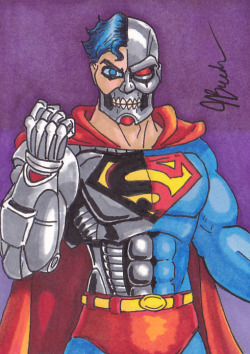 Sketch Card #84 - The Cyborg by *destinyhelix