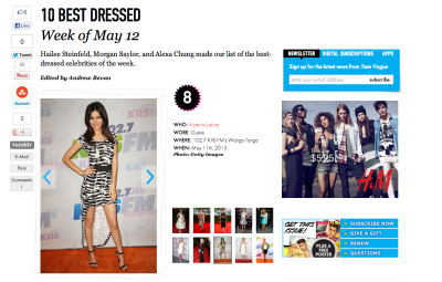 Teen Vogue Best Dressed list! Wahoo!