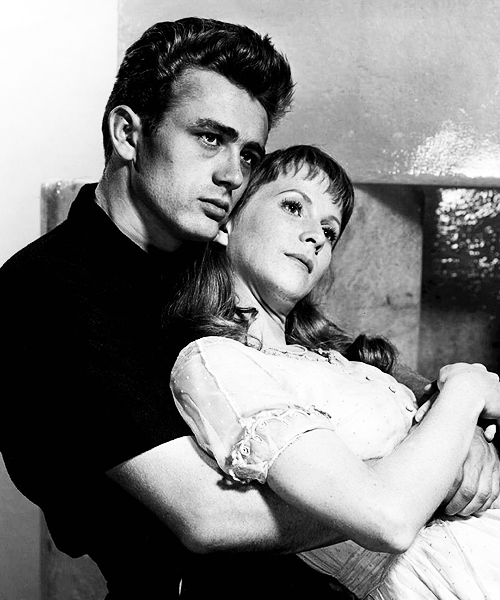 Publicity still of James Dean and Julie Harris for East of Eden,1955.