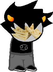Anon asked: YOU SHOULD PHOTOSHOP THINGS ONTO KARKAT'S FACE