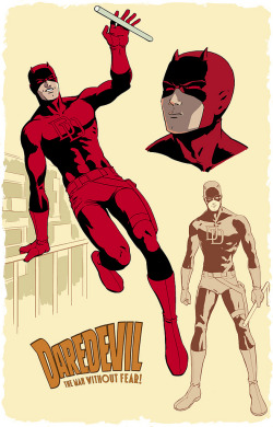xombiedirge:  Daredevil by Javier Rodriguez  Seriously, anyone reading at least five books a month should have Waid's Daredevil included.   Fun. Deep. Colorful. The art is a great Silver Age throwback, but even better is how it tells the story by bringing a blind man's radar to colorful life.