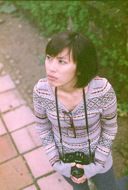 Girl with film camera by Pankha Nikon on Flickr.Via Flickr: Nikon FM Outdated Kodak Max 400 Film