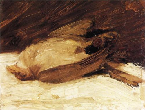 german-expressionists:  Franz Marc, The Dead Sparrow, 1905   1905