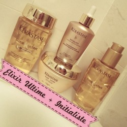 thedollsfactory:  My hair beauty little helpers #ElixirUltime + #Initialiste by #Kerastase  Love these products!