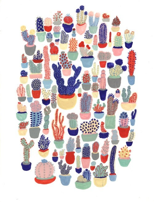windwrinkle:  Cactus Club Print  by MelindaBoyce on Etsy