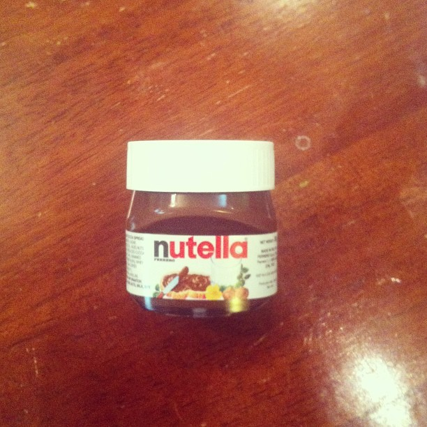My sweet mini Nutella #gift #dad #happy #chocolate