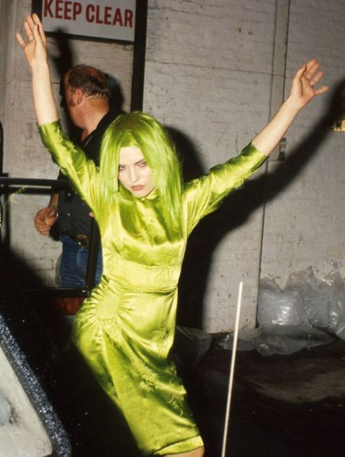 debbie harry lime green
