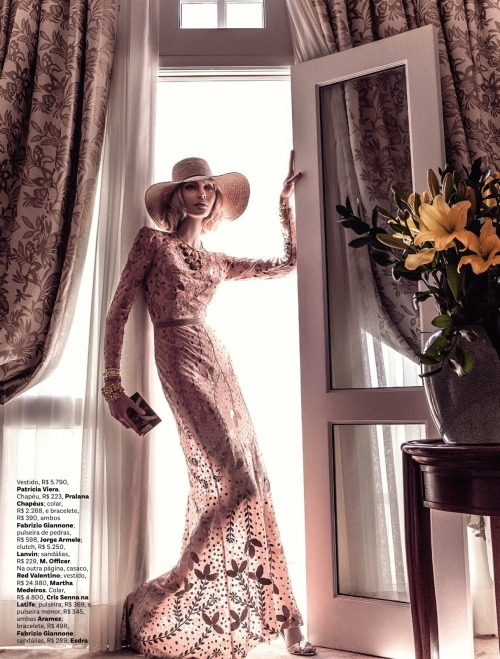 """Glamour Old School"" (+) Vogue Brazil, May 2013 photographer: Zee Nunes Luana Teifke"