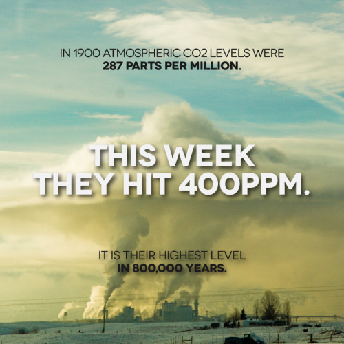 saveplanetearth:  400 PPM: Carbon Dioxide in the Atmosphere Reaches Prehistoric Levels @ Scientific American via tcktcktck
