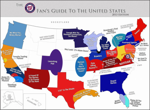 The #Natitude Fan's MLB Map #winseverything (credit to the creator, this is hilarious!)