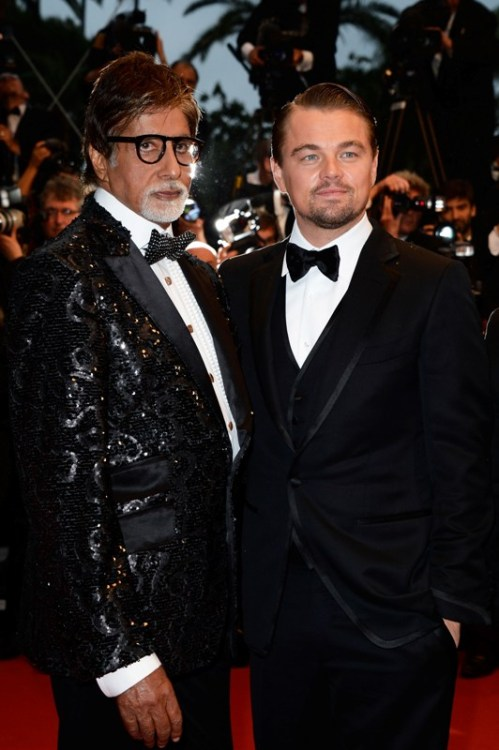 Amitabh Bachchan and DiCaprio at Cannes