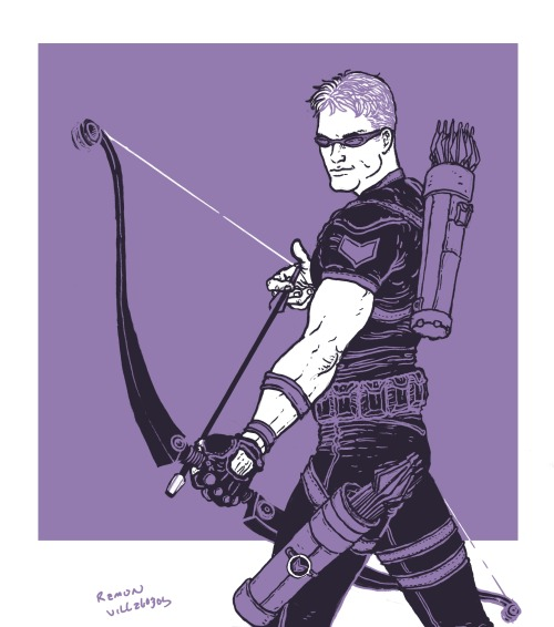 ramonvillalobos:  Quick Hawkeye (Hawk Guy?) for a friend.
