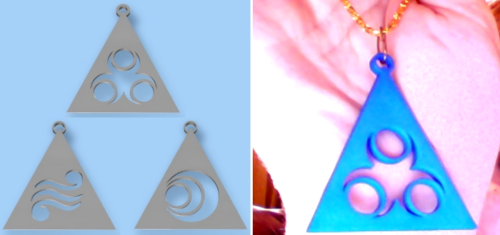 NEW Legend of Zelda Din, Nayru, and Farore Triforce Piece Pendants!  Have the power of the Goddesses of Wisdom (Nayru), Courage (Farore), and Power (Din) close at hand with these light weight pendants! Perfect for a necklace, get 2 and make trendy and fashionable earrings, or get all 3 for the GBFF (Geeky Best Friends Forever) necklace set! Available for print in a variety of colored plastic and metal materials. Follow MNM on Tumblr and or Facebook (10% off code)