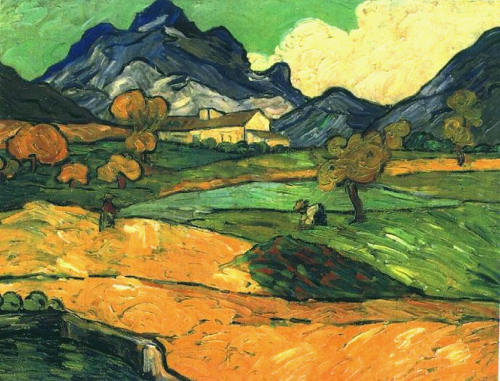 cavetocanvas:  Paul Sérusier, Mount Gaussier with the Mas de Saint-Paul, 1889