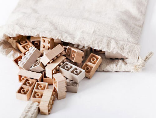Mokulock Wooden Bricks - Design Milk