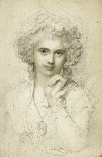 kutxx:  3. Richard Cosway Portrait of Maria Cosway 1785, watercolor over graphite on paper, private collection