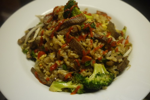 Venison fried rice